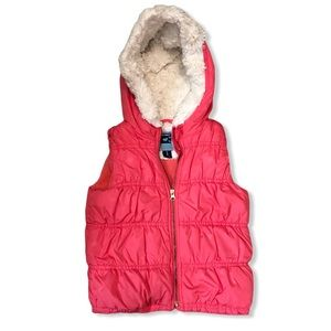 Old Navy Hooded Puffer Vest 4T